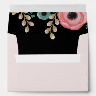 modern floral design envelopes zazzle