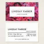 Modern Floral Florist Event Planner Business Card