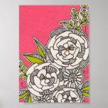 Modern Floral Graphic Print