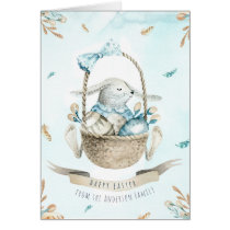 Modern Floral Happy Easter Wishes Boho Greetings Card