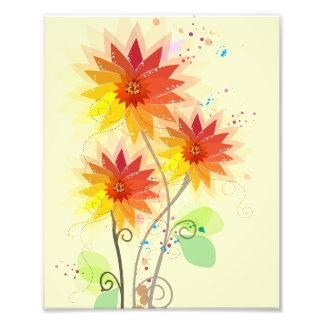 Modern Floral Illustration Photo Art