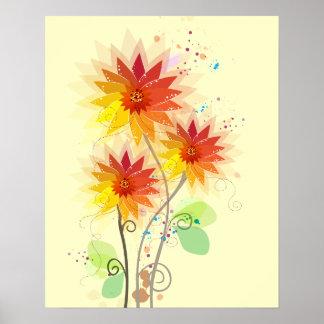 Modern Floral Illustration Poster