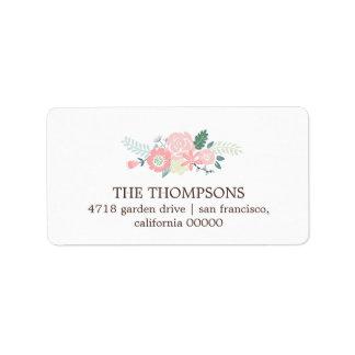 Modern Floral Address Label
