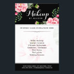 """Modern Floral Makeup Script Black White Flyer<br><div class=""""desc"""">Modern Floral Makeup Script Black White Flyer.  (1) For further customization,  please click the &quot;customize further&quot; link and use our design tool to modify this template.  (2) If you need help or matching items,  please contact me.</div>"""