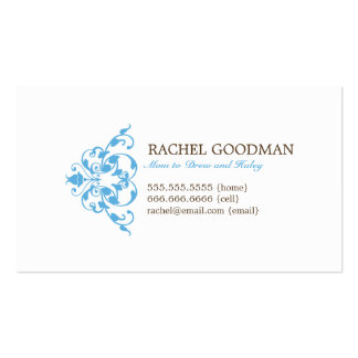 Modern Floral Mommy Card / Personal Calling Card