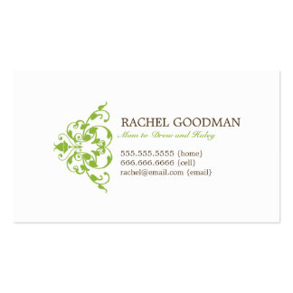 Modern Floral Mommy Card / Personal Calling Card Double-Sided Standard Business Cards (Pack Of 100)