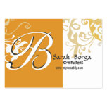 Modern Floral Monogram Day Lily Business Card