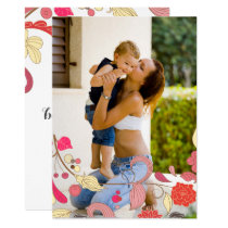 Modern Floral Mothers Day Photo Card