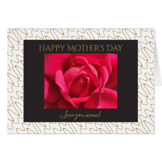 Modern floral Mother's Day, Red Rose, personalize