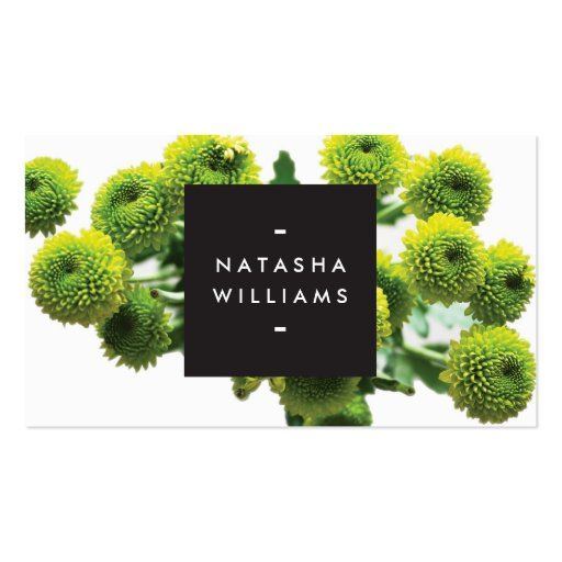 MODERN FLORAL MOTIF for COSMETOLOGISTS, SPA, SALON Business Card