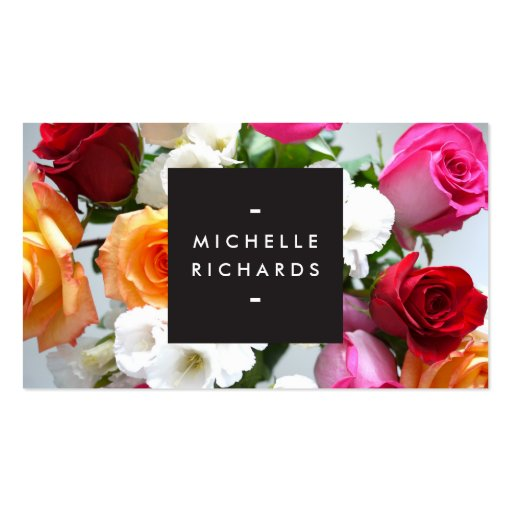 MODERN FLORAL MOTIF for EVENT PLANNERS and more Business Card Template