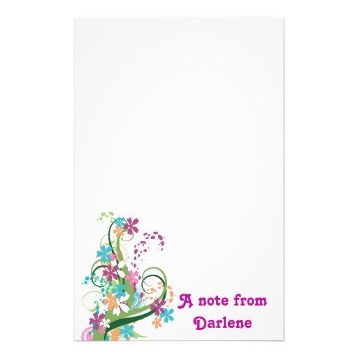 Modern Floral Notepad Stationery