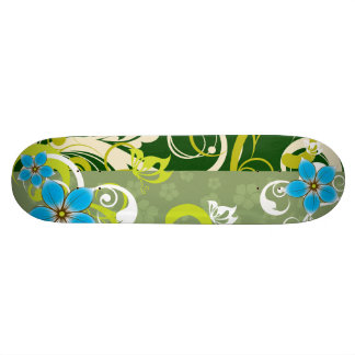 Modern Floral Ornament Skateboard