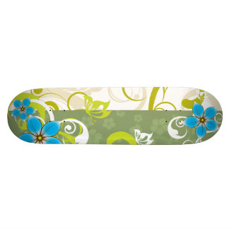 Modern Floral Ornament Skateboard Deck