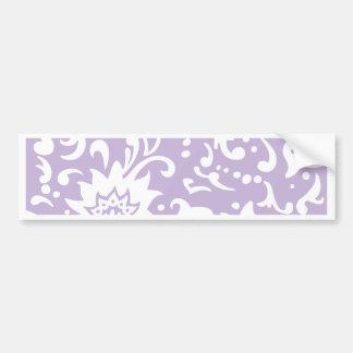 Modern Floral Pattern Gift Retro Baby Mauve Bumper Sticker