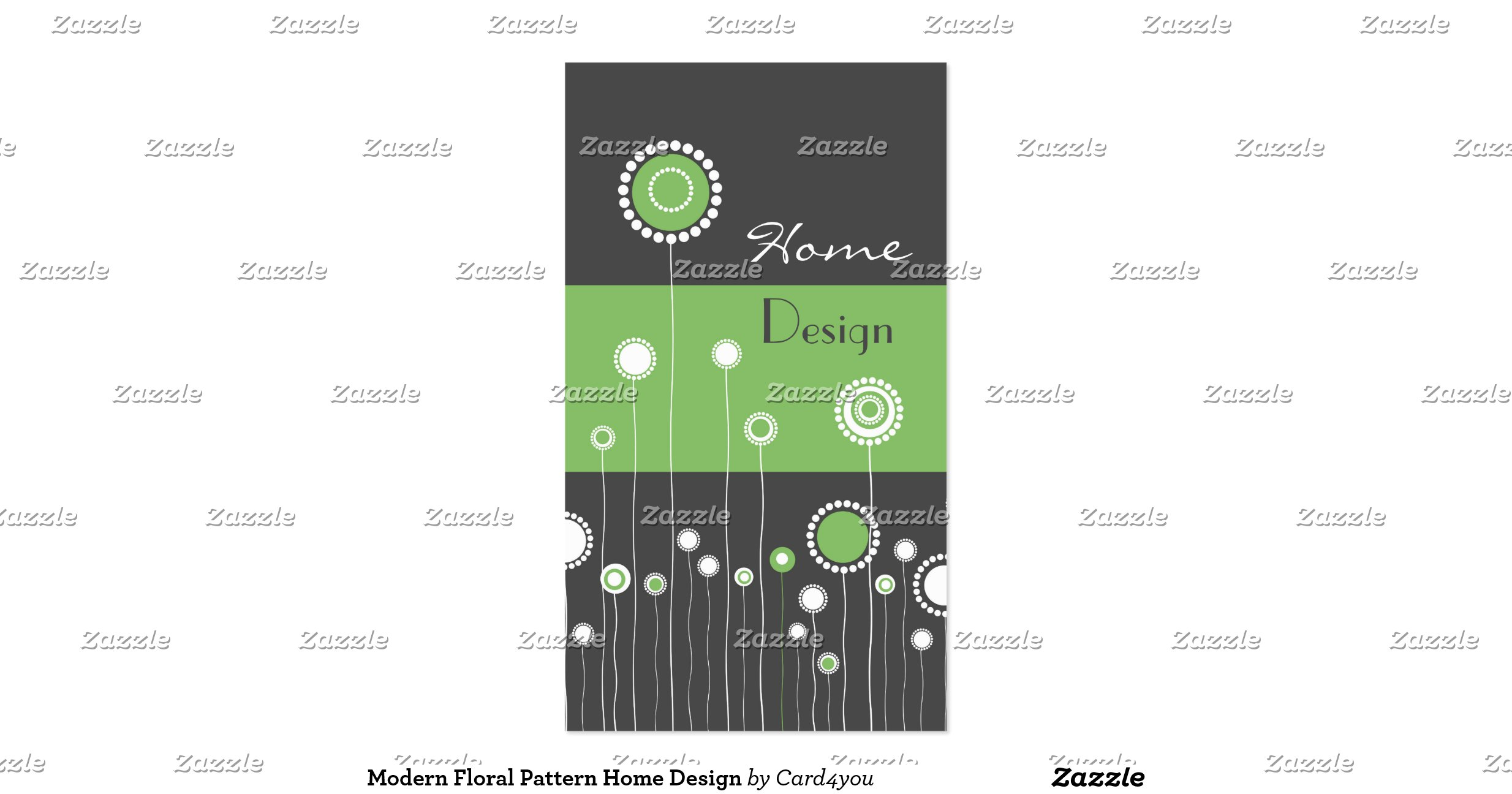 Modern Floral Pattern Home Design Double Sided Standard Business Cards Pack