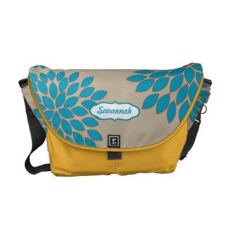 Modern Floral Pattern Messenger-choose colors Courier Bags