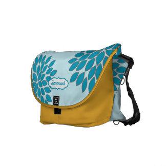 Modern Floral Pattern Messenger-choose colors Courier Bag