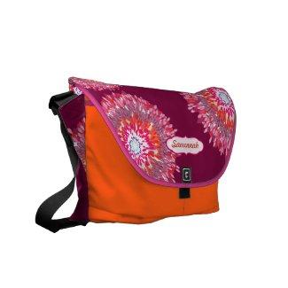 Modern Floral Pattern Messenger-choose colors rickshaw_messengerbag