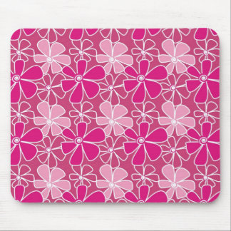Modern Floral Pattern - Pink Mouse Pad