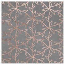 Modern floral pattern rose gold chic grey cement fabric