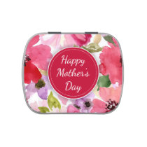 Modern Floral Red Mother's Day Candy Tins