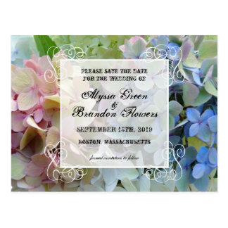 Modern Floral Save the Date Wedding Postcards