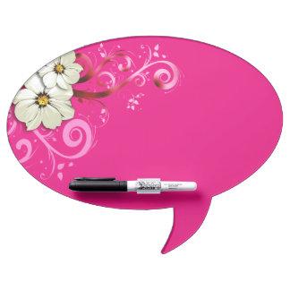 Modern Floral Swirling Curlicues   fuchsia Dry-Erase Board