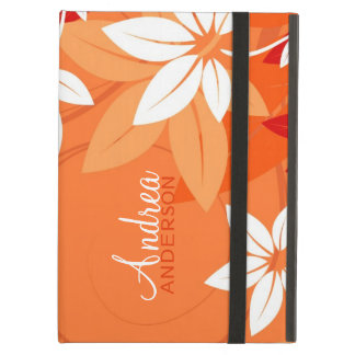 Modern Floral Tangerine Folio iPad Case