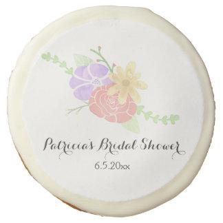 Modern Floral Watercolor Bridal Shower Sugar Cookie