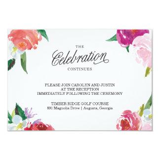 Modern Floral Watercolor Wedding RSVP Card