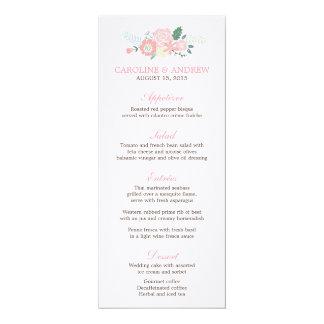 Modern Floral Wedding Menu Cards