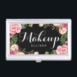 """Modern Floral Wrapping Makeup Artist Calligraphy Business Card Case<br><div class=""""desc"""">================= ABOUT THIS DESIGN ================= Modern Floral Makeup Artist Calligraphy Business Card Holder. (1) All text style, colors, sizes can also be modified to fit your needs. (2) If you need any customization or matching items, please contact me. (3) You can find matching products (e.g. Business Card, Appointment Card, Flyer,...</div>"""