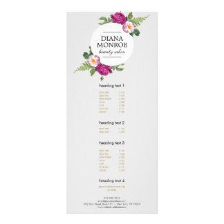 Modern Floral Wreath Gray Salon Rack Card