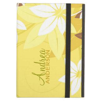 Modern Floral Yellow Folio iPad Case