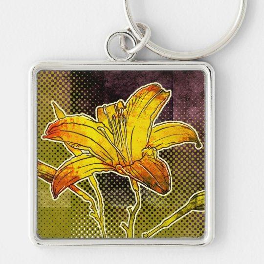 Modern Florals: Tiger Lily Keychain
