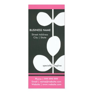Modern Flower Business Pamphlet 4x9.25 Paper Invitation Card