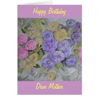 Modern flower card from hand painted original
