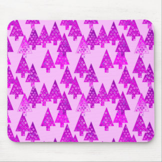 Modern flower Christmas trees - orchid Mouse Pad
