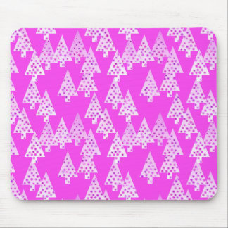 Modern flower Christmas trees - orchid pink Mouse Pad