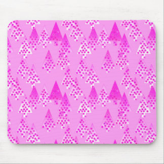 Modern flower Christmas trees - orchid & violet Mouse Pad