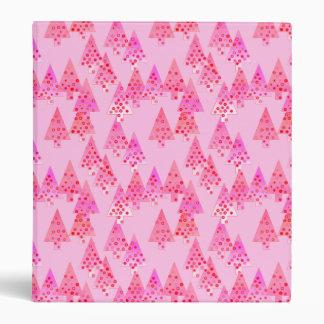 Modern flower Christmas trees - pastel pink Binder