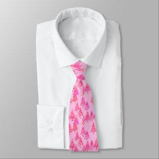 Modern flower Christmas trees - pastel pink Tie