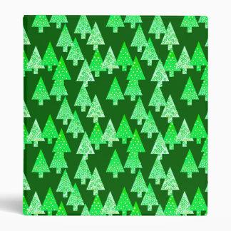 Modern flower Christmas trees - pine green Binder