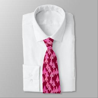 Modern flower Christmas trees - wine & pink Neck Tie