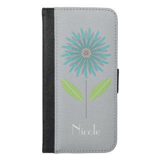 Modern Flower Custom Design Cell Phone Wallet Case