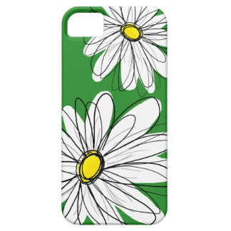 Modern Flower Drawing - green yellow iPhone 5 Covers