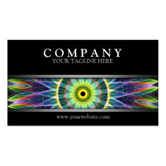 Modern Flower Eye Mandala Business Card Template