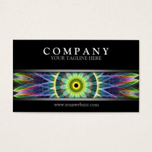 New age business cards templates zazzle modern flower eye mandala business card colourmoves