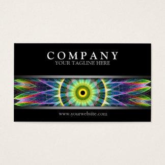 Modern Flower Eye Mandala Business Card